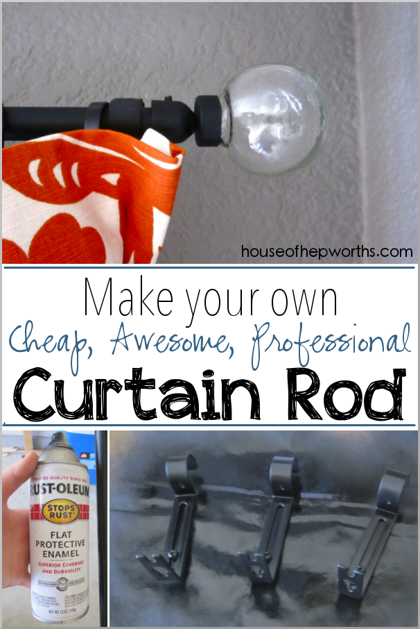 Make your own cheap awesome professional curtain rod www.houseofhepworths.com