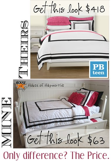Interior Pbteen Make Your Own Bed i knocked off some pbteen bedding and saved 355 daughters new dont forget this week ill be sharing all the knock tutorials so you can make your own too see ya soon