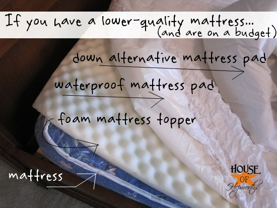 Target Waterproof Mattress Pad How to layer a bed + a full source list {Bedding Week}