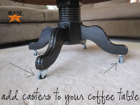 Adding Casters To Furniture An Easy Solution To A Big Problem