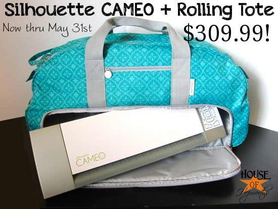 Rolling Tote For The Silhouette Cameo Awesome Promotion