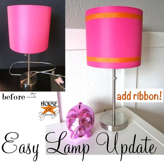 Easy lamp shade update aloadofball Choice Image
