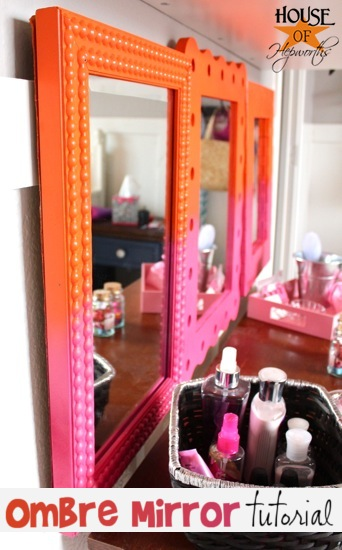 ombre home decor mirror sorbet