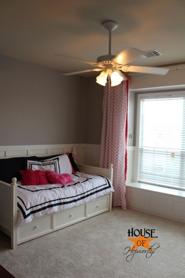our quest for cool air putting up ceiling fans. Black Bedroom Furniture Sets. Home Design Ideas