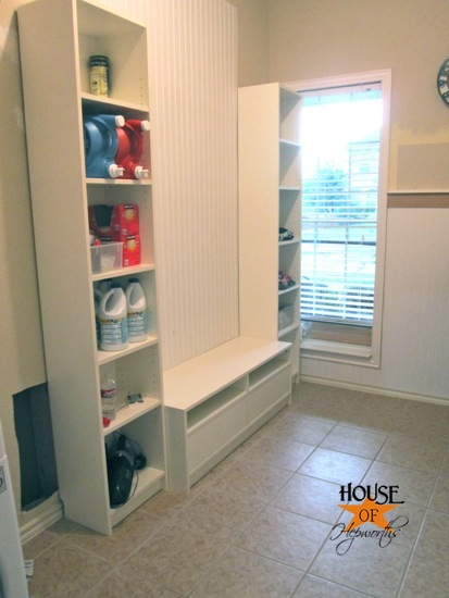 The laundry slash mudroom is almost done