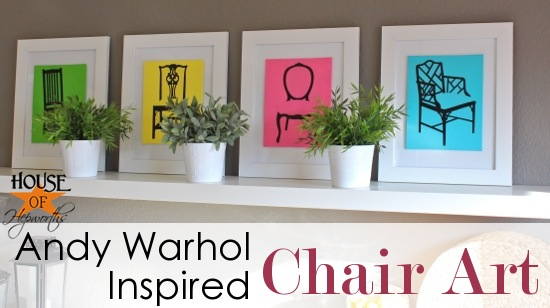 Andy Warhol Inspired Chair Pop Art