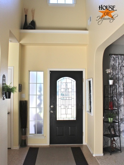 Black painted front door (and it wasn\'t an epic fail!)