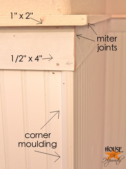 Kids' bathroom makeover, phase 1: Hanging beadboard and trim