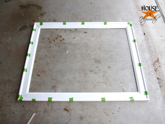 when you are attaching a frame to a mirror you will be able to see a sliver of reflection of the back of the frame through the mirror make sure you paint