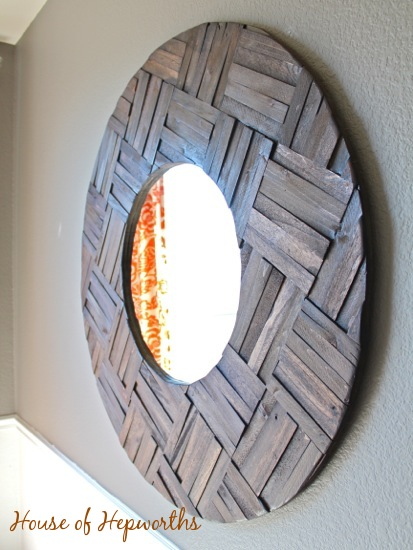 Totally Awesome Huge Mirror Made From Shims Diy Mirror
