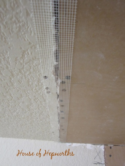 best way to fix crack in drywall ceiling