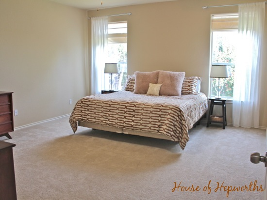 A mini master makeover (bedding & curtains in the master bedroom)
