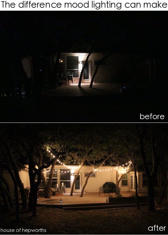 Add outdoor mood lighting for a big impact. www.houseofhepworths.com
