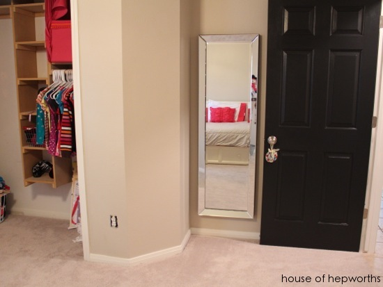 How to hang a heavy full length leaner mirror on the wall - How to hang a door on the wall ...