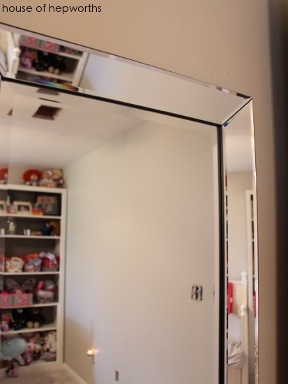 How to hang a heavy full-length leaner mirror on the wall