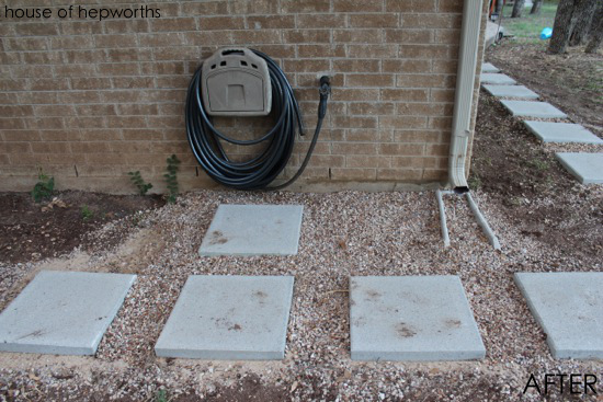 How to lay a paver walkway - Stepping stones and pebbles ...