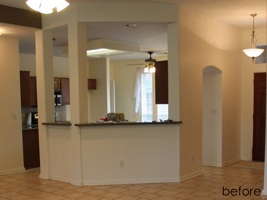 Kitchen Islands With Support Columns Pictures