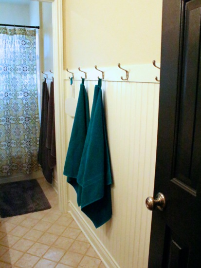 Easier way to install wall hooks for Can you put a tv in the bathroom