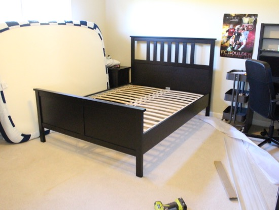 Nice It us still pretty basic but it us livable and he really loves it All the furniture is from Ikea The bed side table and dresser are all Hemnes