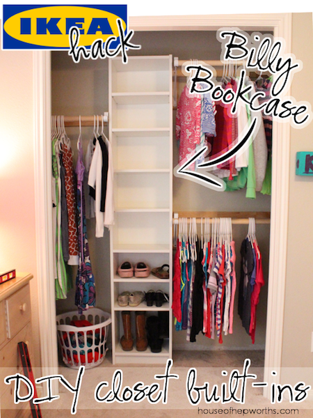 How to build your own closet built ins using a billy for Adding a walk in closet