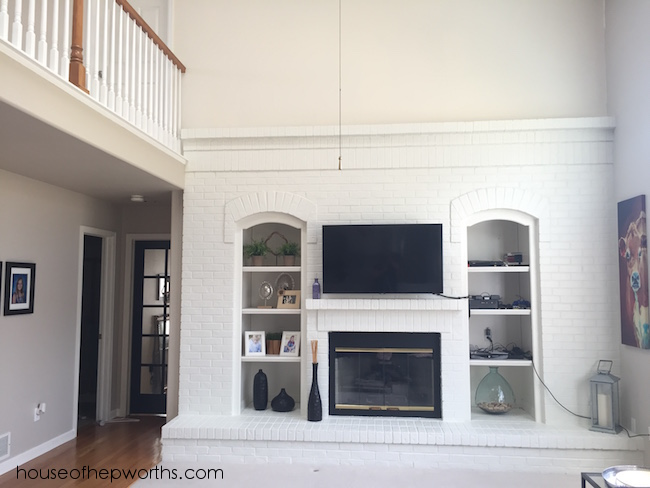 Stunning Fireplace Makeover With Paint