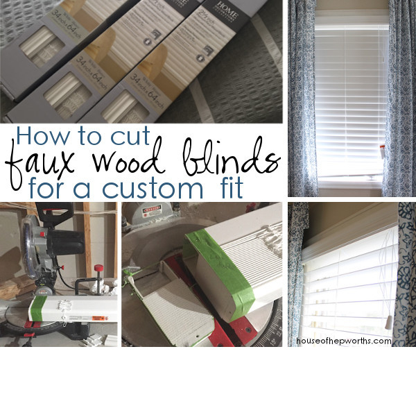 How to cut Faux Wood Blinds for a custom fit