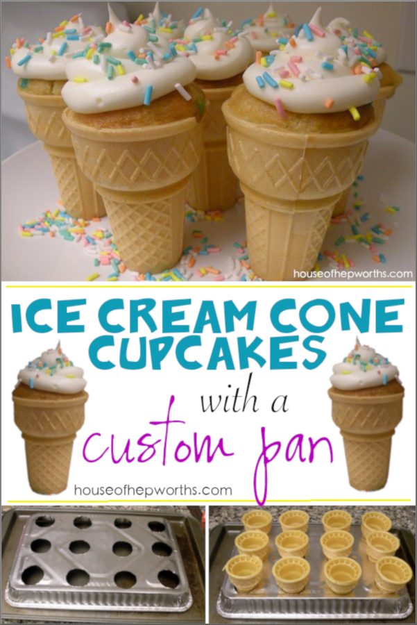 Ice Cream Cone Cupcakes With A Custom Pan House Of Hepworths