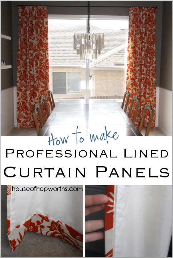 How to make professional lined curtain panels. A step-by-step tutorial for creating swoon-worthy curtains. Tutorial at www.houseofhepworths.com