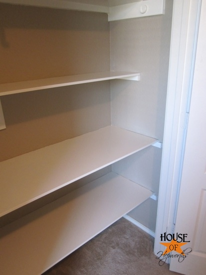 How To Install Shelves In A Closet House Of Hepworths