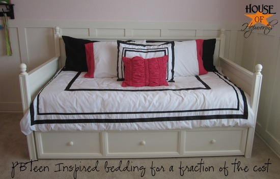 Pbteen Inspired Duvet Amp Sham Tutorial Bedding Week