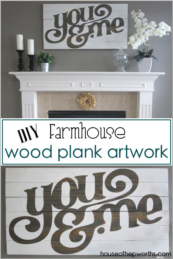 You & Me custom farmhouse artwork wood plank