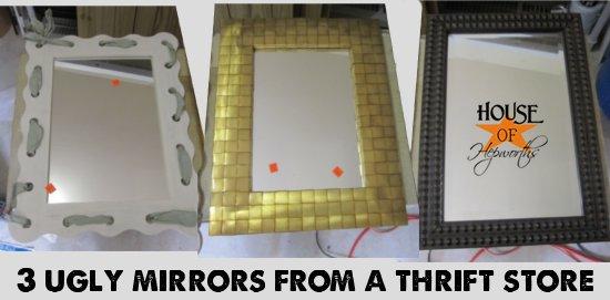ombre home decor mirror sorbet