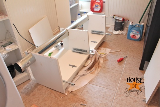 Laundry Room Phase 2 How To Run A Vent Pipe Through A