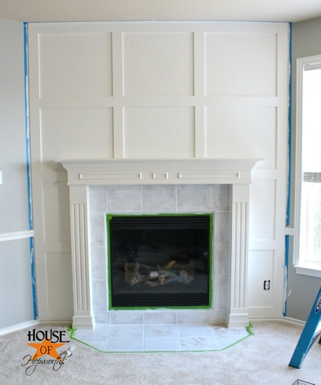 A Dramatic Fireplace Makeover White Moulding Amp Black