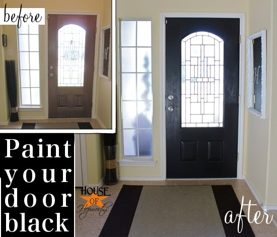 Black painted front door (and it wasn\'t an epic fail!) - House of ...