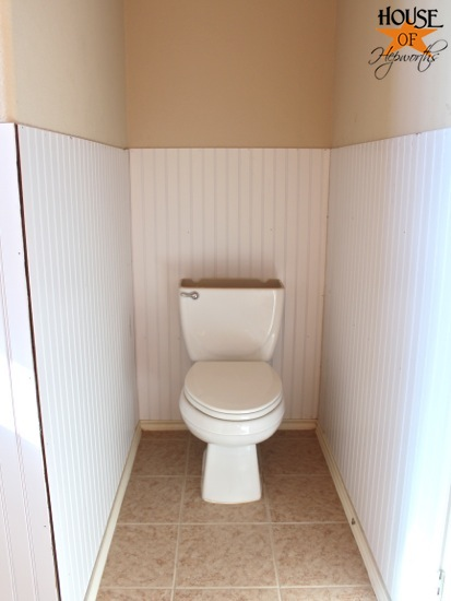 I Needed To Get The Beadboard Around That Without Having To Un Install The  Entire Toilet. Bleh.