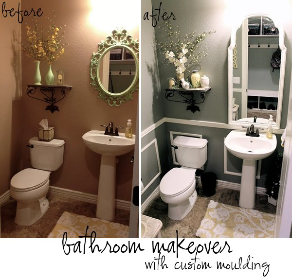 Before And After Bathroom Makeovers On A Budget: Adding Moulding And Updating A Bathroom By Therena From