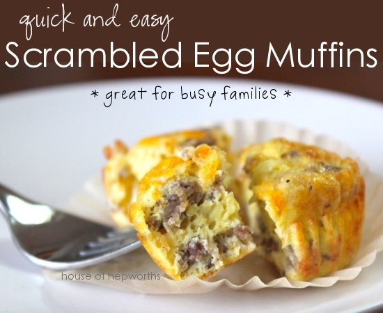 Scramble Egg Muffins breakfast sausage
