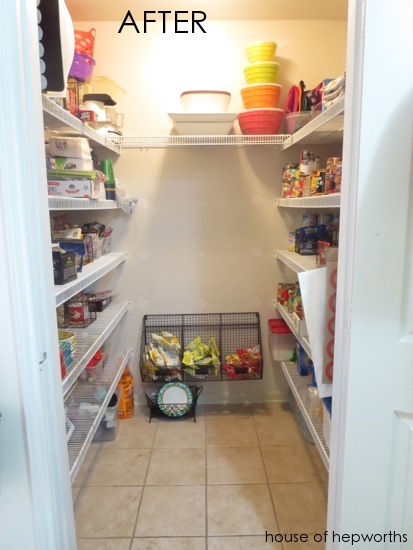 Removing Shelving In The Pantry