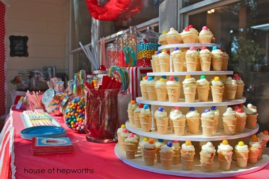 Carnival Themed Baby Shower A Photo Booth A Cupcake Stand