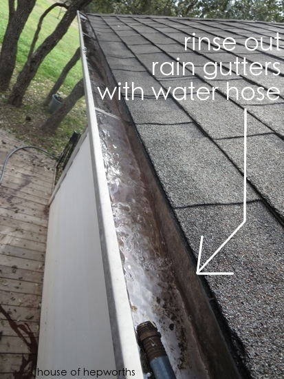 Spring Cleaning Cleaning Out The Rain Gutters House Of