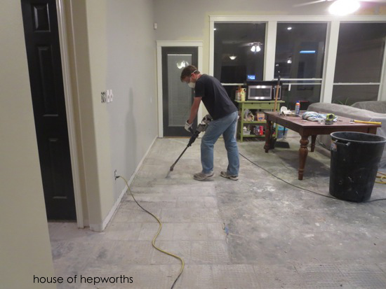 The Best Way To Remove Thinset From A Cement Foundation House Of - Labor cost to remove tile floor