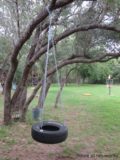 how to build rope swing into river