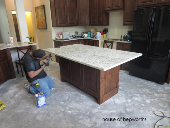 The making of a kitchen island - House of Hepworths