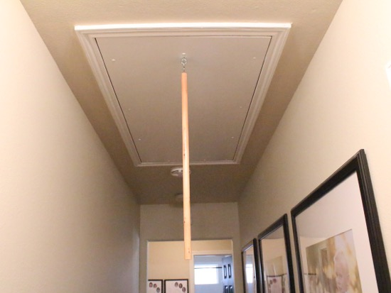 Merveilleux Get Rid Of That Ugly Cord Hanging From Your Attic Stairs   House Of  Hepworths