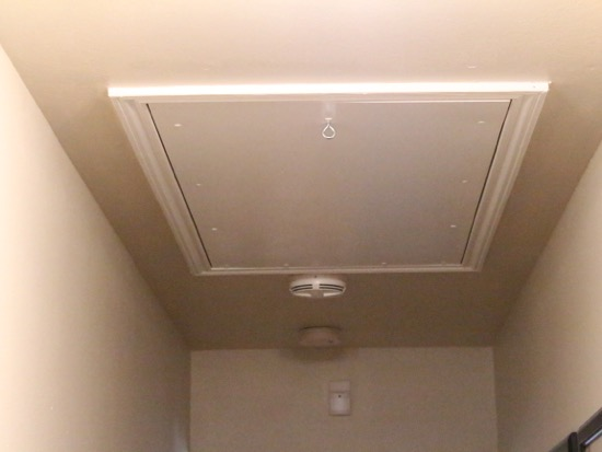 attic door pull ideas - Get rid of that ugly cord hanging from your attic stairs