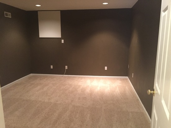 So This Room Is In The Basement And Has No Windows Dark Brown Wall Color Was Just Not Working At All It Felt Like A Cave