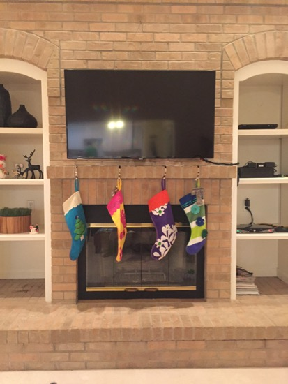 Tv On Brick Above A Fireplace, Mount Tv Brick Fireplace Hide Wires