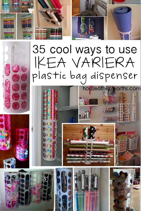 35 uses for IKEA's VARIERA plastic bag dispenser www.houseofhepworths.com