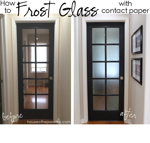 That Is Literally How Easy It Is To Frost Glass With Contact Paper.